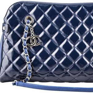 Chanel Bowling Patent Navy